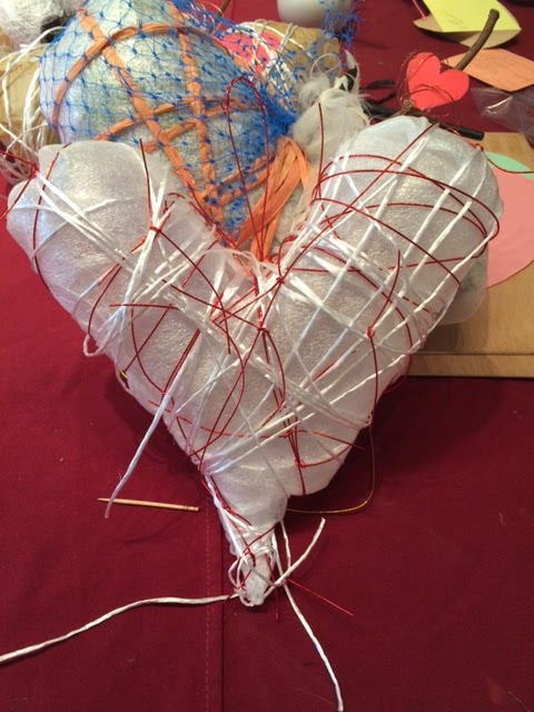 art cottage puffy heart valentine