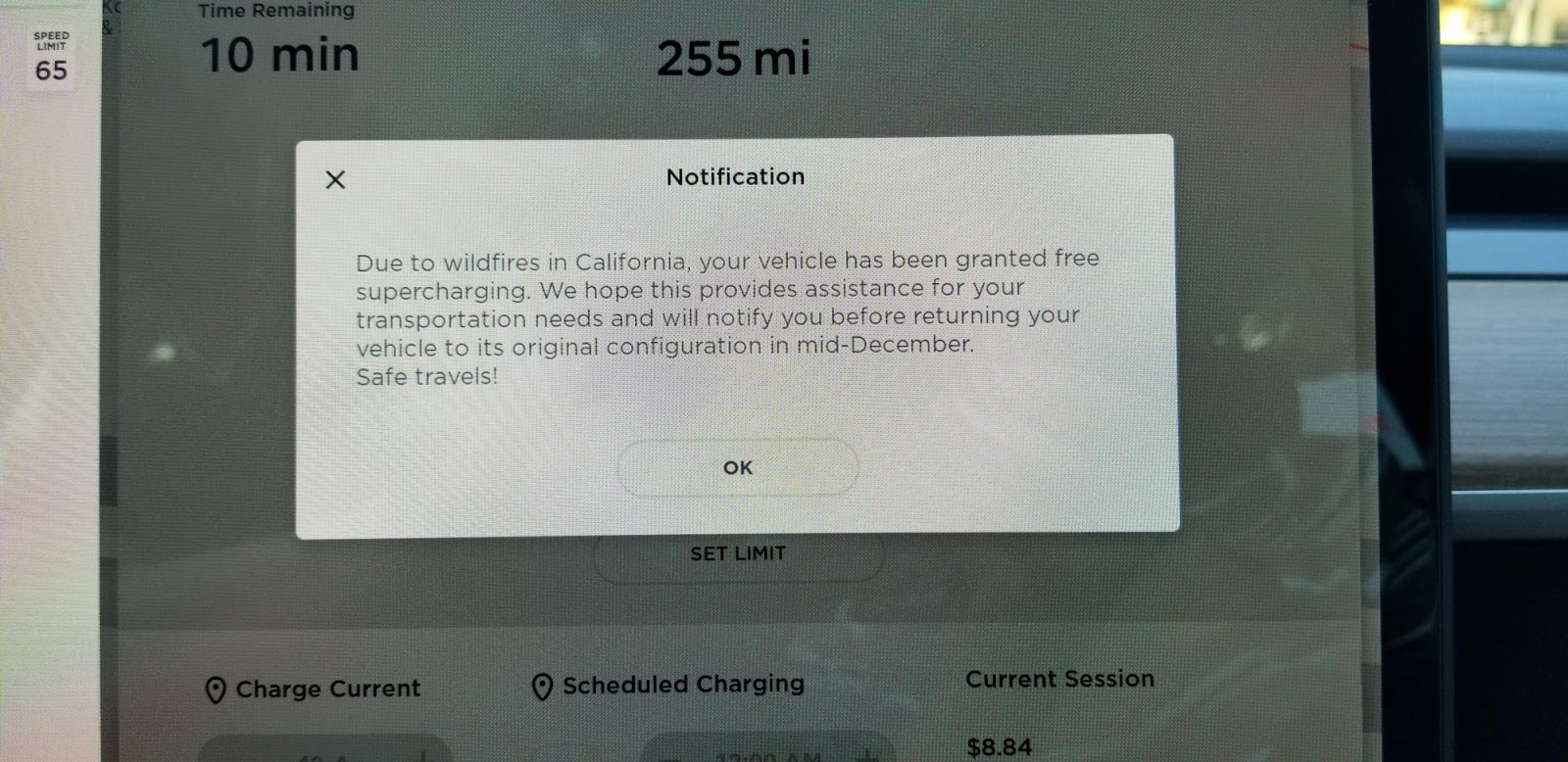 Tesla has made Supercharging free for owners affected by California destructive fire