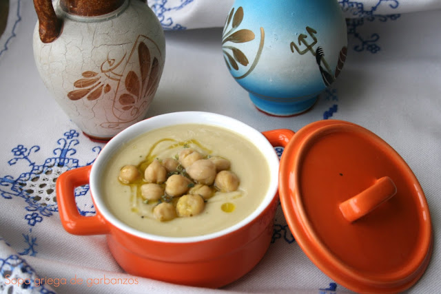 crema de garbanzos, sopa de garbanzos, Cookeo