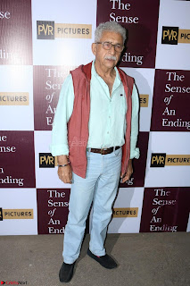 Nimrat Kaur and Naseeruddin Shah at Special Screening Of movie The Sense Of An Ending 14.JPG