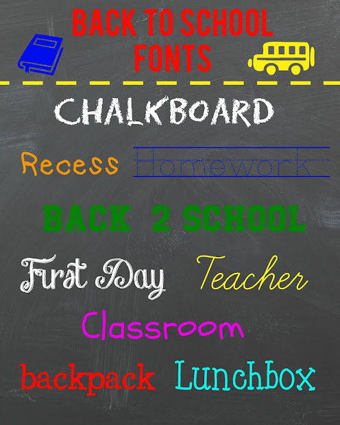 Colorful Back To School Fonts Free - Year of Clean Water