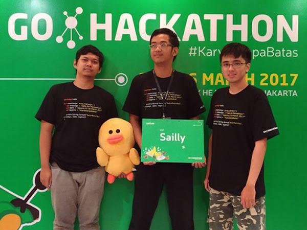 Tim Sailly Bandung Juara Go-Hackathon 2017
