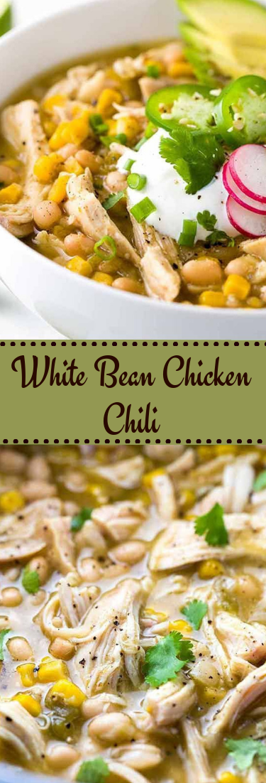 White Bean Chicken Chili #keto #healthyrecipe