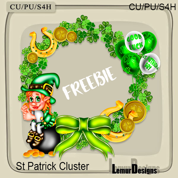 FREEBIE ST.Patrick Day Cluster