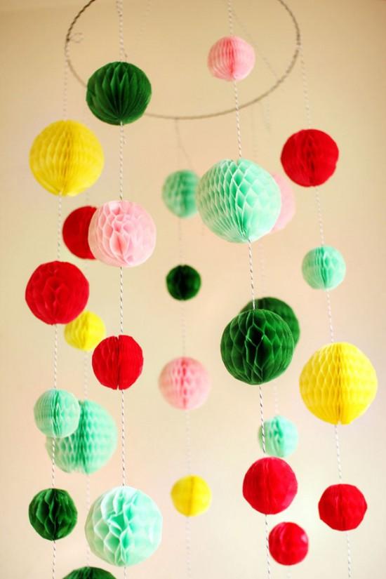 Hacer bolas de papel decoraci n navide a - Bolas de decoracion ...