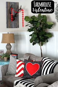 farmhouse style Valentine's Day decor, Chic on a Shoestring Decorating