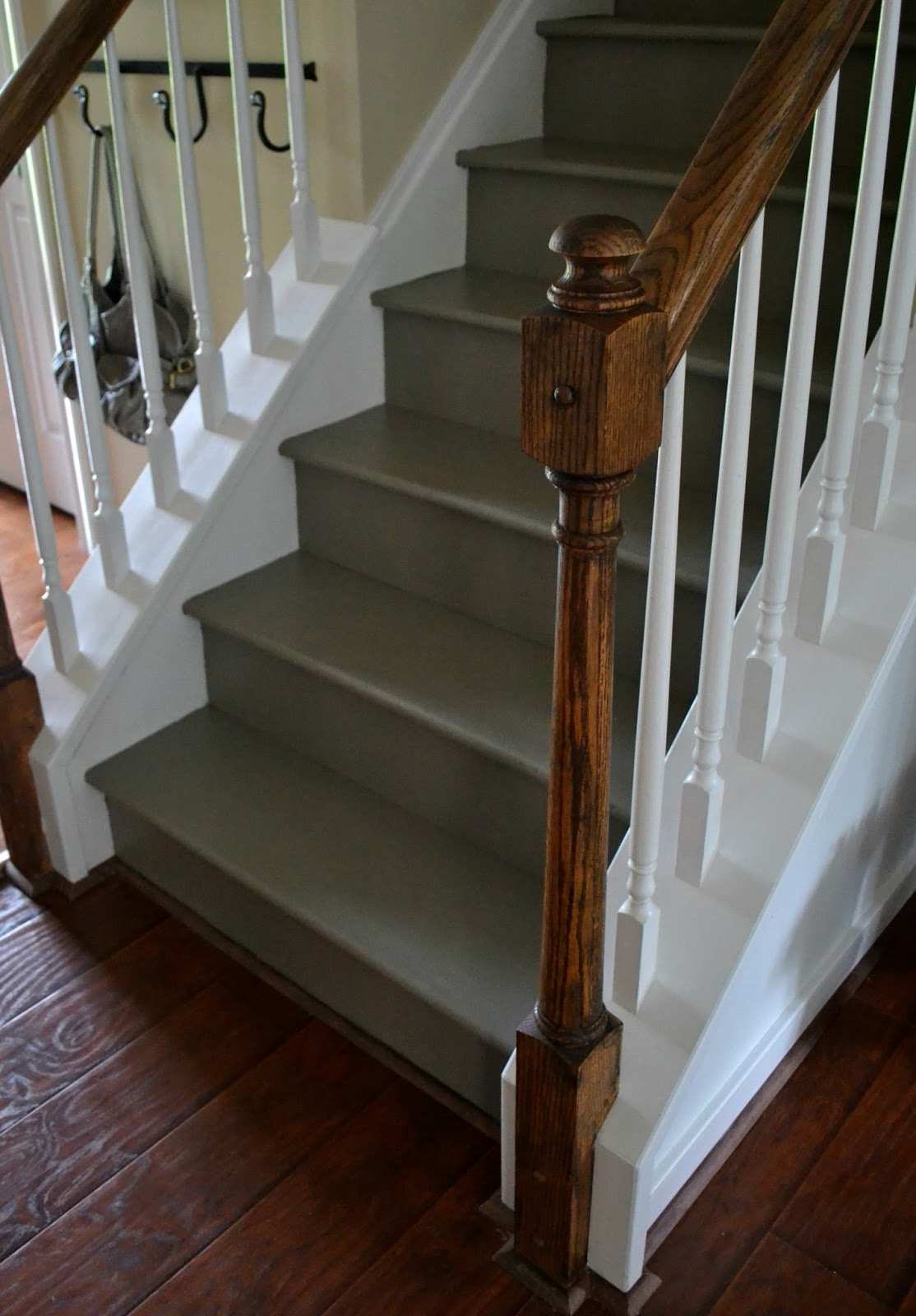 Down to Earth Style: Painted Stairs