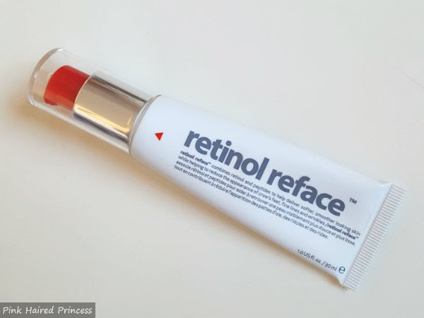 Retinol Reface 30ml tube on white surface