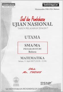 SOAL BAHAS UN MATEMATIKA SMA/MA 2017 Jurusan BAHASA