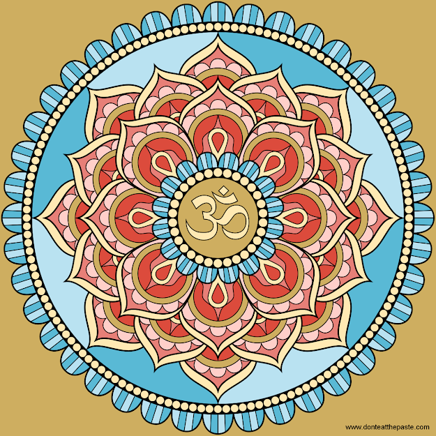 Lotus Om Mandala  Pinned By Yogafleurdelotus