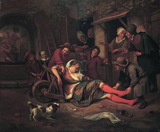 El vino es un burlón, obra del holandés Jan Steen