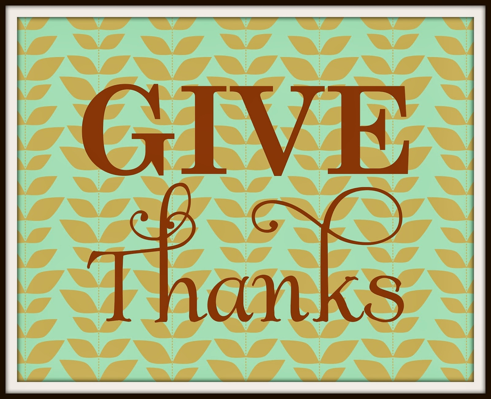 It is a picture of Enterprising Give Thanks Printable