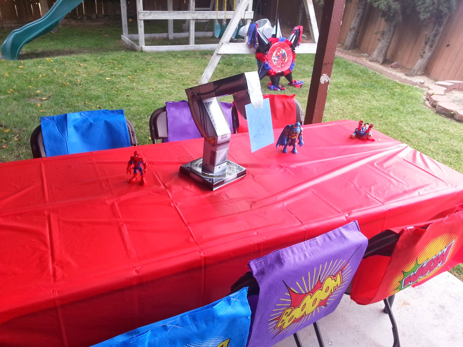 Chair Covers Oriental Trading Heavy Duty Sports Chairs Birthday Parties Superheroes Party