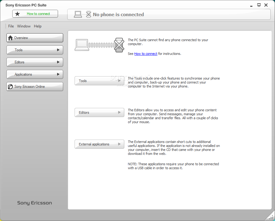 برنامج sony ericsson pc suite لإنشاء نسخة إحتياطية لهواتف sony