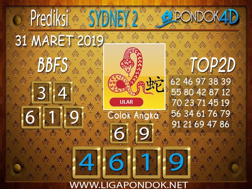 Prediksi Togel SYDNEY 2 PONDOK4D 31 MARET 2019