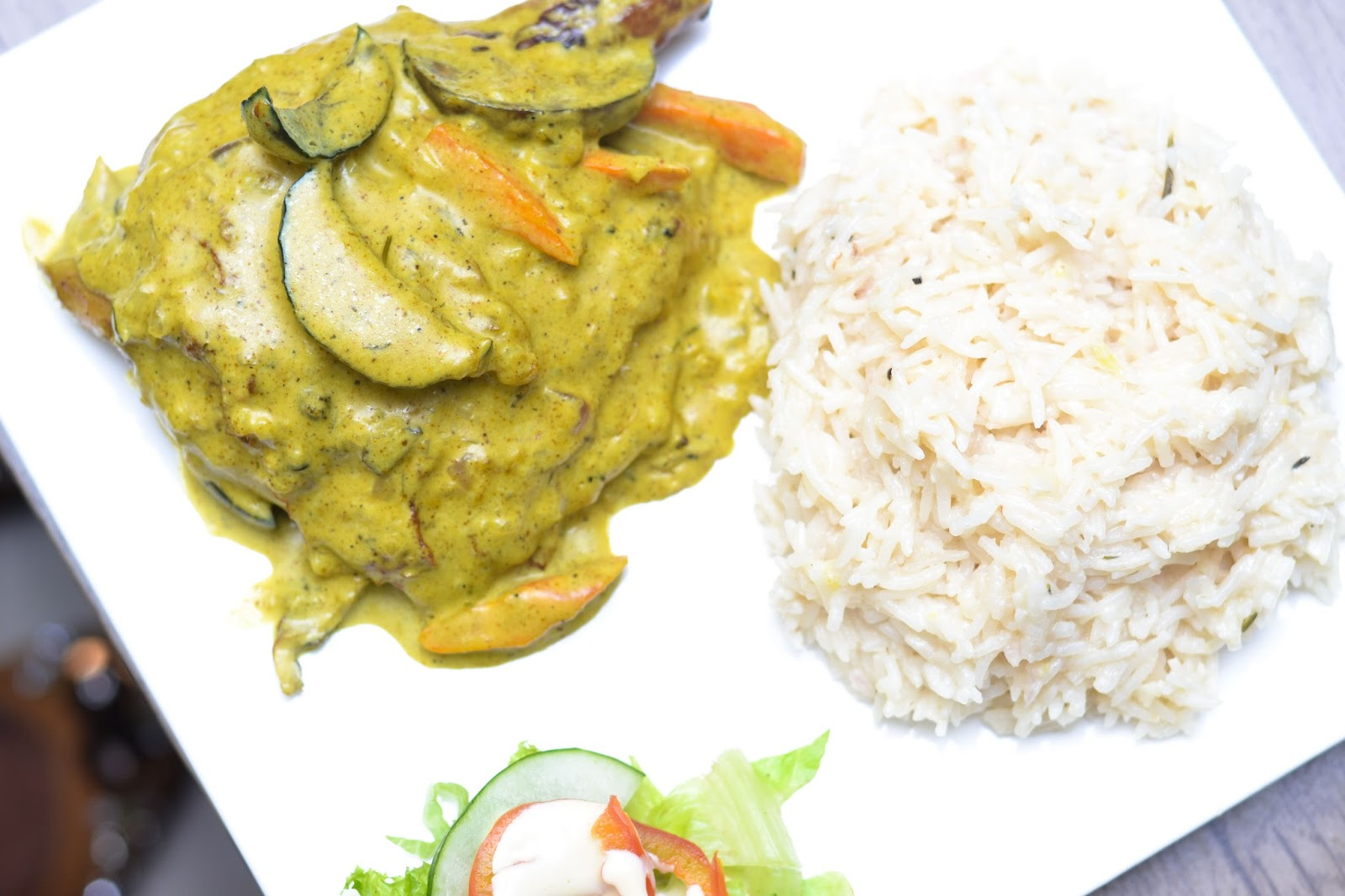 Coconut Rice & Chicken Curry in Lagos