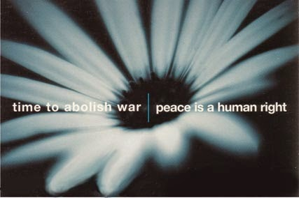 time to abolish war | peace is a human right. Image by haguepeace.org