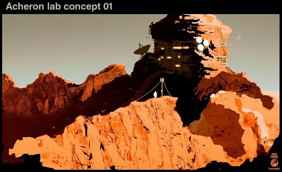 Mars base - Acheron concept 01 by William Bennett