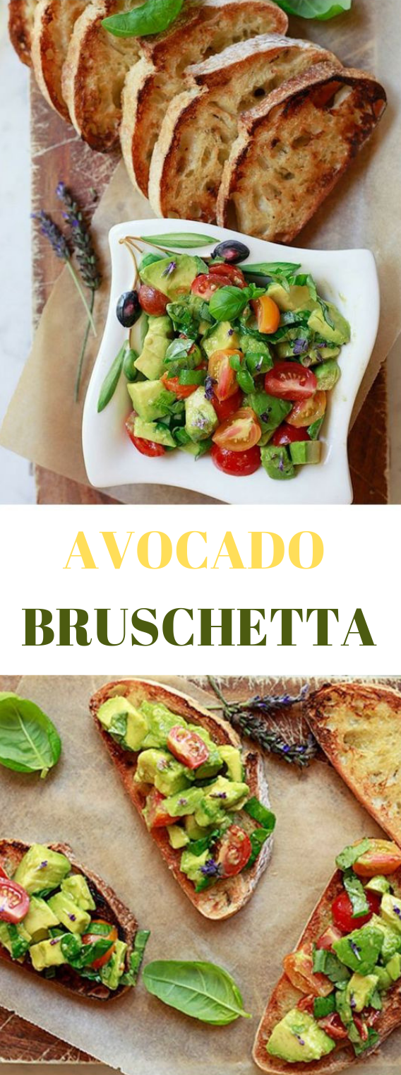 AVOCADO BRUSCHETTA #diet #avocado