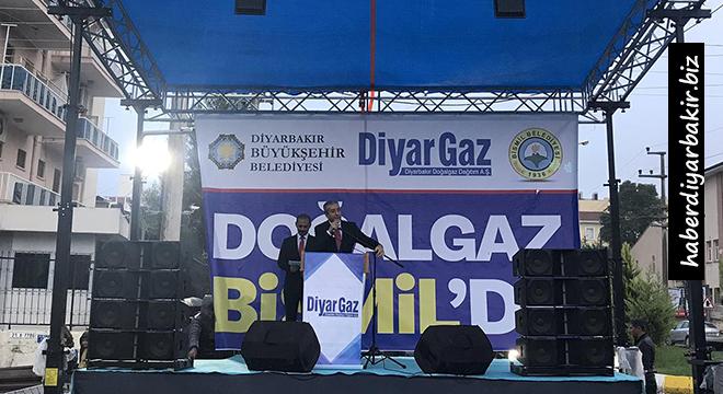 Diyarbakır Bismil doğal gaza kavuştu
