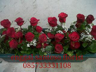 bunga mawar merah tangkaian untuk hari kasih sayang