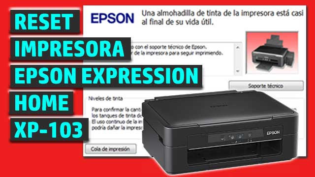 Reset impresora EPSON Expression Home XP-103