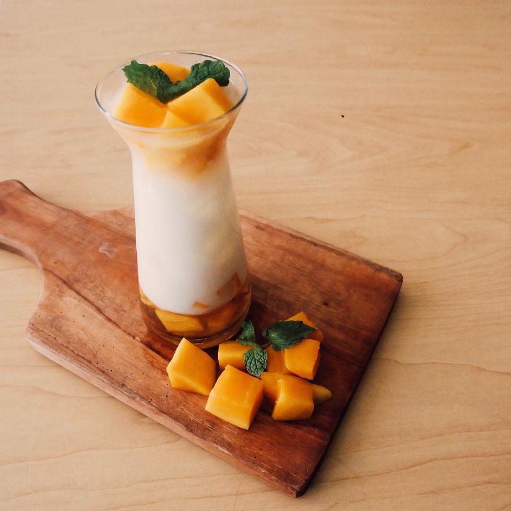 Resep Cara Membuat Es buah mangga susu