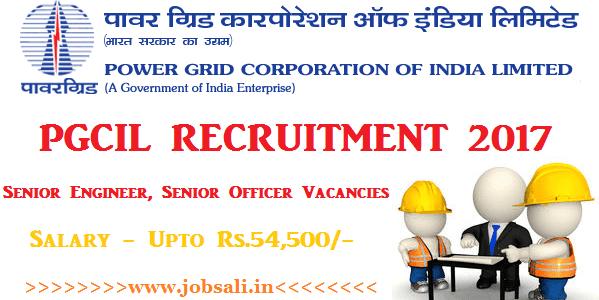 PGCIL Careers, PGCIL Senior Engineer Recruitment, Govt Engineering jobs