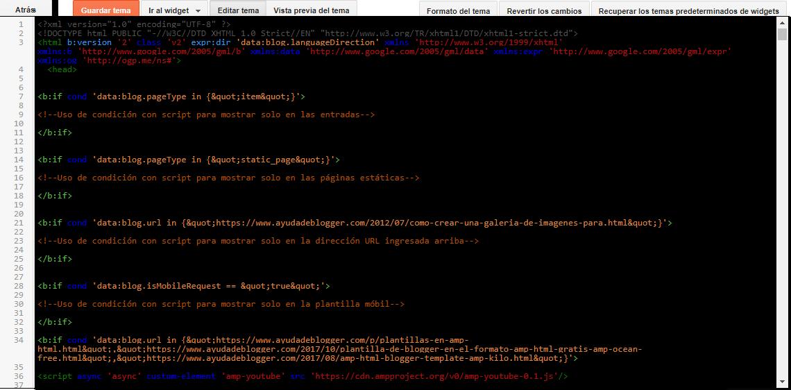 Etiquetas de datos condicionales para todos los tipos de página de ...
