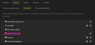 Plex subtitle settings