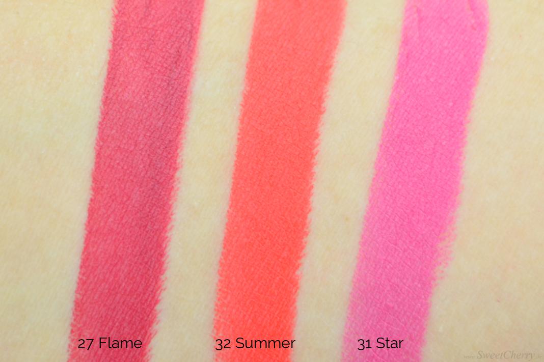 IQ Cosmetics Colourful Lipstick Matt - Swatches