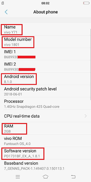 Vivo Y71 Loader File