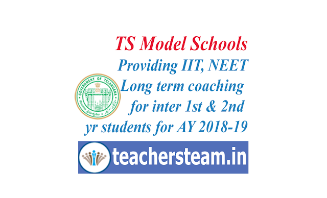 IIT NEET coaching in TS model schools