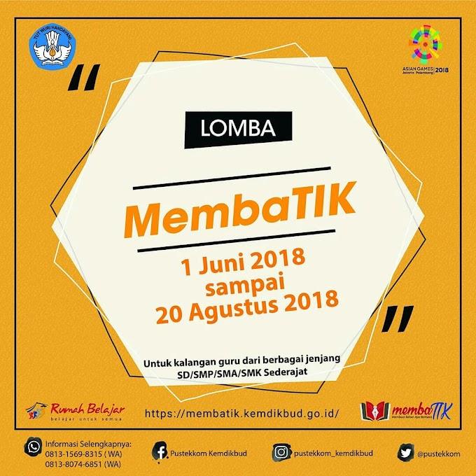 Lomba MEMBATIK Kemdikbud 2018..Menang dapat Laptop!