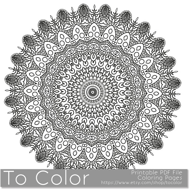 Coloring Sheet Mandala Pattern Intricate Printable Coloring Pages For  Adults Instant Download Coloring Book Coloring Sheet Grown Up
