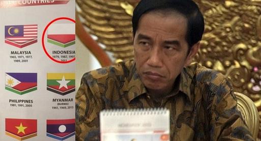 Jokowi Malah Tenang Lihat Bendera Indonesia Terbalik di SEA Games Malaysia