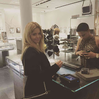 PLL Actresses Lucy Hale and Sasha Pieterse at Barneys New York