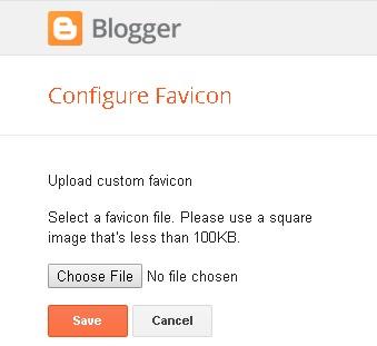 Configure Blogger favicon