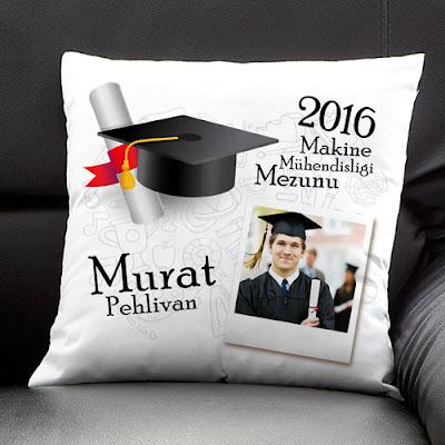 mezunlara özel yastık
