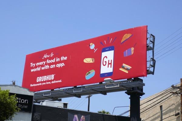 Grubhub every food world app billboard