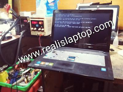 service laptop lenovo g40 tidak tampil di malang