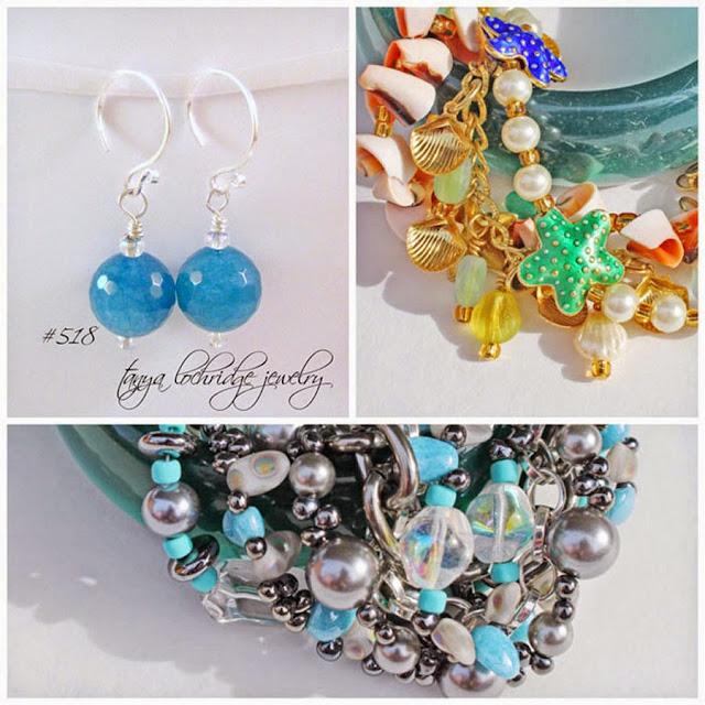 Tanya Lochridge Jewelry Angelite Gemstone Sterling Silver Drop Earrings