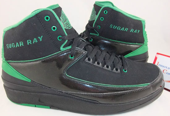 pretty nice 2805e b1097 Made in 2008, Ray Allen wore these during the 2008-09 NBA season while he  played for the Boston Celtics. This Air Jordan 2 Retro PE comes in a black  and ...