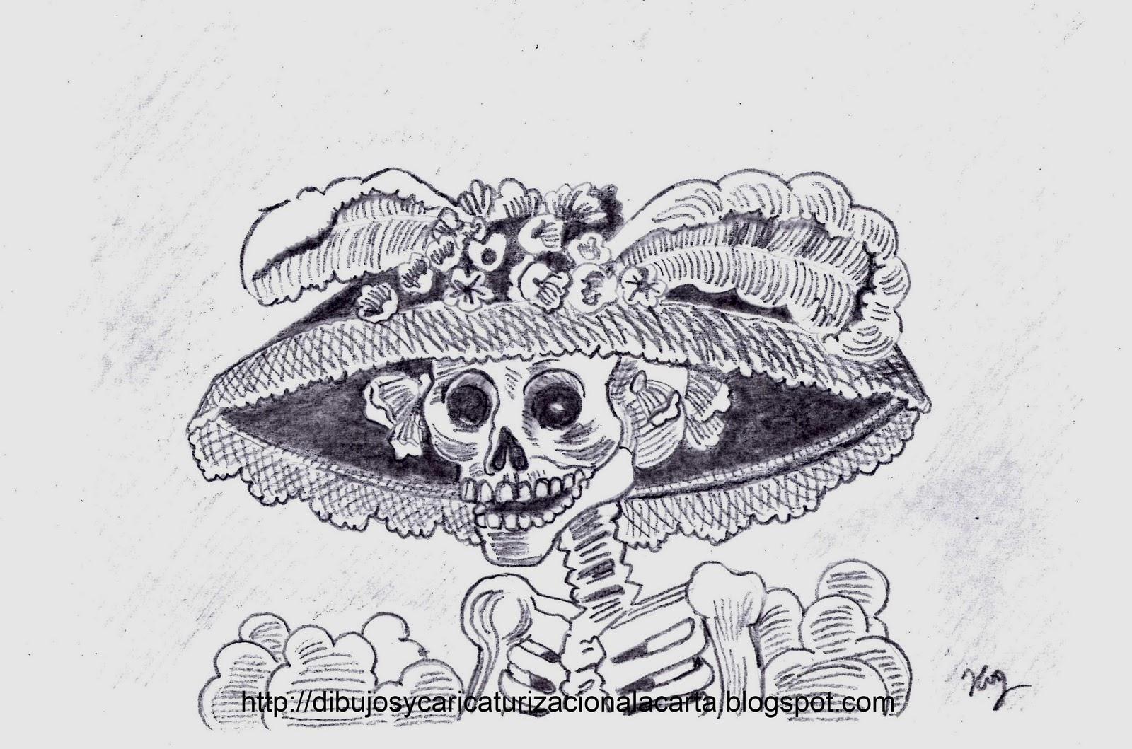 Dibujos Y Caricaturizacion A La Carta La Catrina Y El Dia De Muertos