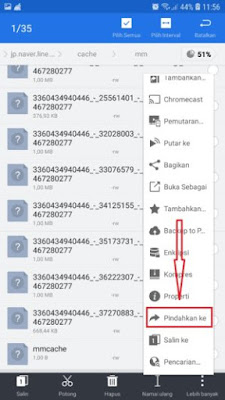 Cara download video line dengan copy paste cache videonyanya