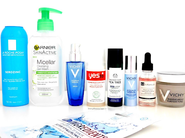 Skincare Products for Combination Skin, Skin routine for oily skin