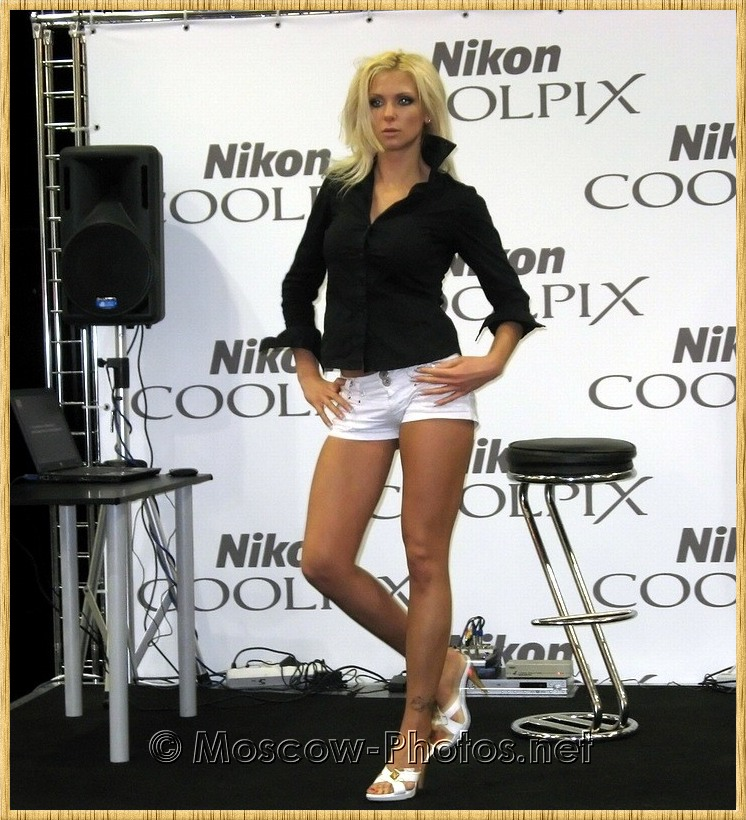 Model in white shorts at Photoforum - 2008