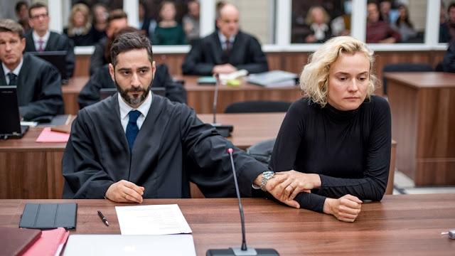 L'avocat Danilo (Denis Moschitto) et Katja (Diane Krüger) dans In the Fade de Fatih Akin (2017)