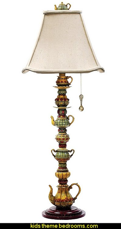 Tea Service Candlestick Table Lamp