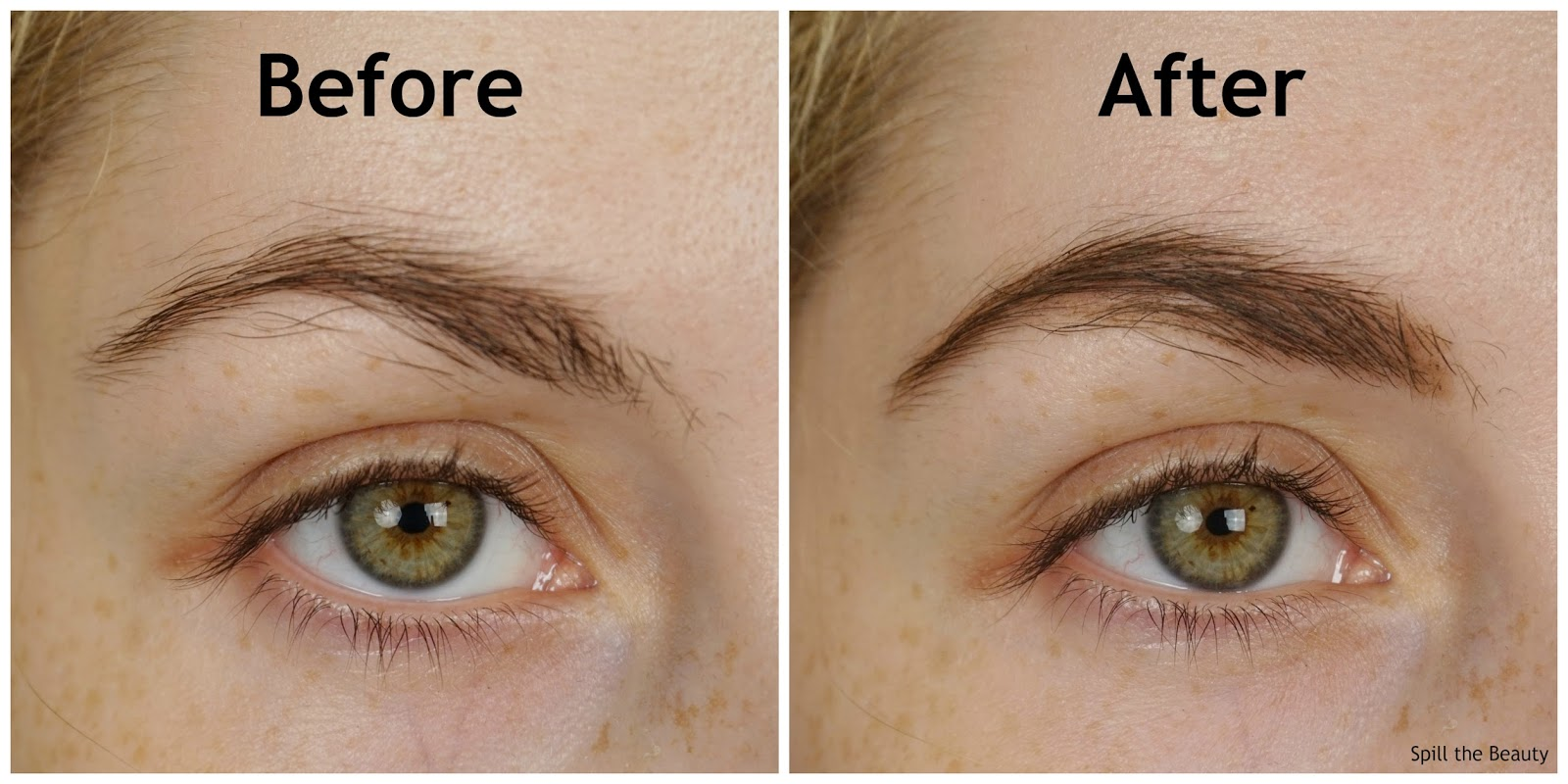 blinkbrowbar eyebrow pencil before and after